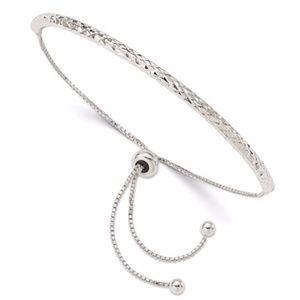 Diamond Cut Adjustable Bracelet Sterling Silver